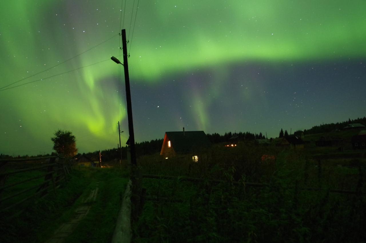 Северное сияние в Черной Реке, конец августа. Фото А. Лесина.