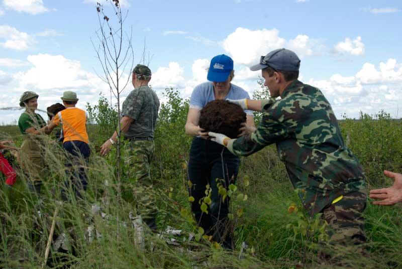 Волонтеры АПБ на болоте Ельня.