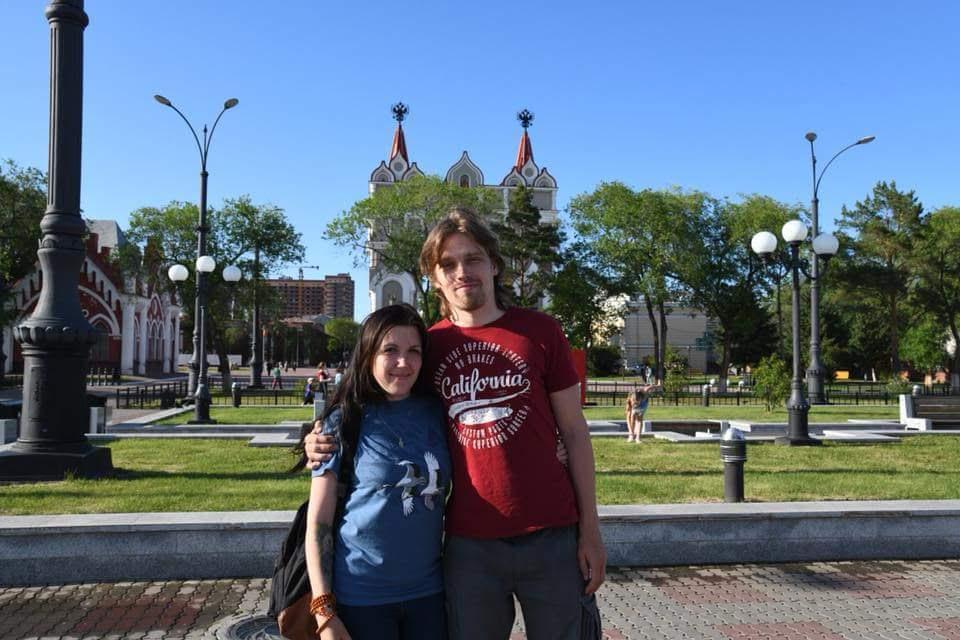 Благовещенск. Люба и Андрей Семенковы - волонтеры Муравьевского парка устойчивого природопользования.