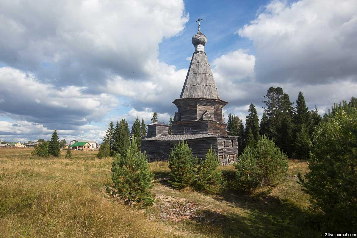 Пурнема. Никольская церковь - старейшее деревянное строение Беломорья. Фотография Дмитрия Шилова, https://cr2.livejournal.com/823833.html.